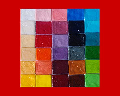 Rollfondant Icing Fondant Masse Tortendeko Tortendecke 30 Farben (500g rot)