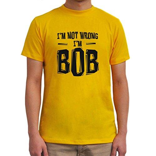 Maglietta I'm Not Wrong I'm Bob Giallo