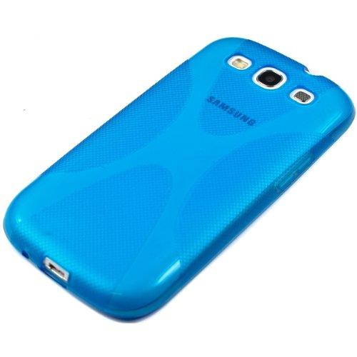 kwmobile Funda para Samsung Galaxy S3/S3 Neo   Case para Móvil en TPU Silicona   Cover Trasero Diseño X Style en Azul
