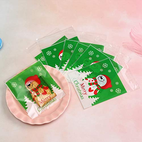 SYxiongsheng Credible Christmas Santa Claus and Snowman Plastic Seal Bag Biscuit Candy Packing Bag Self Gift Bags Schneemann 10 * 10 +3