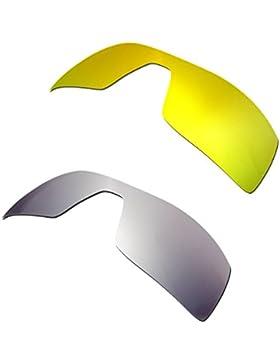 Hkuco Plus Mens Replacement Lenses For Oakley Oil Rig 24K Gold/Titanium Sunglasses