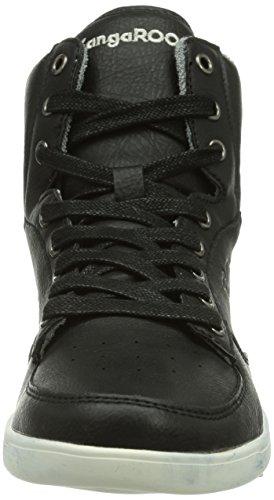 Kangaroos K Basket 5006, Chaussures de basketball garçon Noir (Black 500)