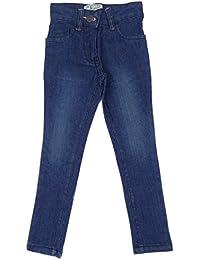 Filles Manchot Jeans Super Skinny Droit Jambe Jeans 2-3to 6-7 Y foncé ou Bleu Jeans Clair