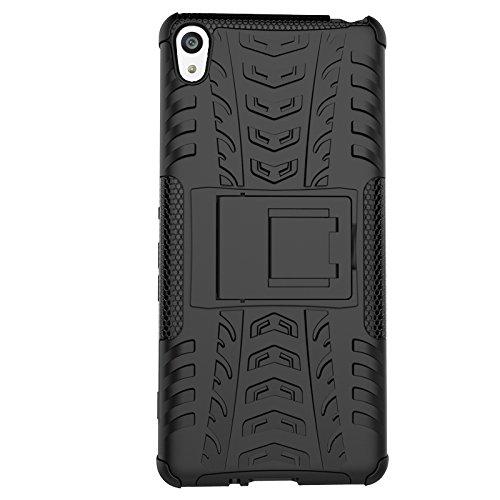 SsHhUu Sony Xperia XA Hülle, Premium Rugged Stoßdämpfung & Staubabweisend Kompletter Schutz Hybrid-Koffer mit Ständer Telefon Kasten für Sony Xperia XA F3113 (5.0
