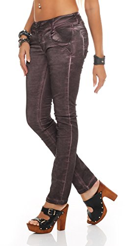 Blue Monkey Damen Jeans Manie BM-06 Grape