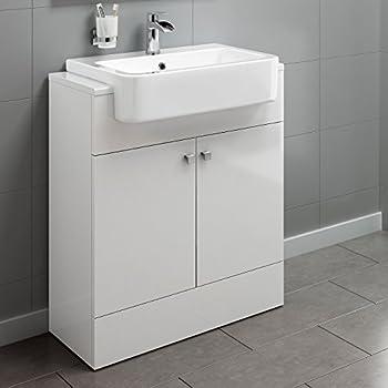 bathroom vanity units without basin. 660mm Gloss White Basin Vanity Cabinet Bathroom Storage Furniture Deep Sink  Unit VeeBath Sphinx Minimalist 600mm With Ceramic