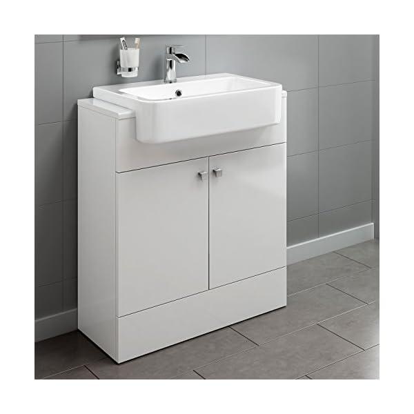 660mm Gloss White Basin Vanity Cabinet Bathroom Storage Furniture Deep Sink Unit 41lOq1HgRAL