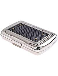 Quantum Abacus Tabaquera con soporte para el papel, de acero inoxidable, elegancia clásica, Mod. 770-02 (DE)