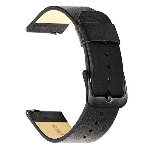 TRUMiRR Armband kompatibel Für Samsung Gear Sport Armband, 20mm Weiches echtes Leder Uhrenarmband Quick Release Armband Männer Frauen Sport Strap für Gear S2 Classic, Garmin Vivoactive 3, Ticwatch E - Männer Für Sport-armband