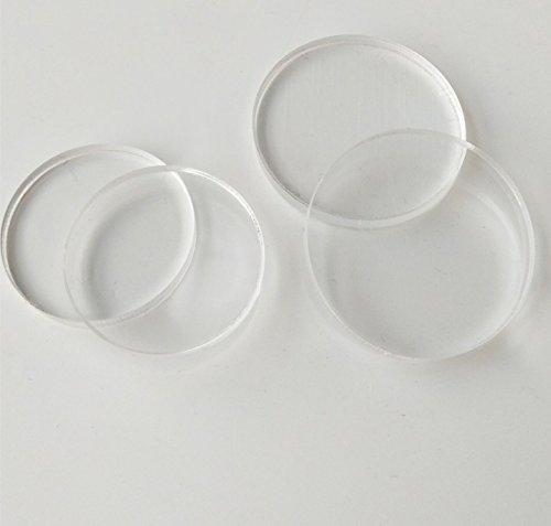Klare Acryl-tabelle (Meya Set 20Stück Klar Acryl Scheiben, Plexiglas Laser Cut rund Kreis 1/20,3cm Dia 0.75