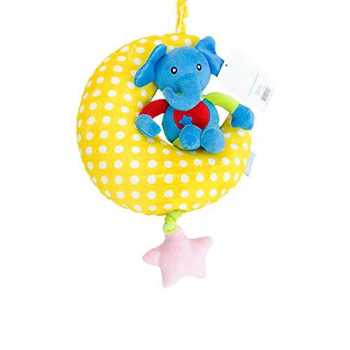Hang Bell-Wind-up Musical Kuscheltier Kinderwagen Krippe hängende Glocke Plüsch-Spielzeug-Geschenk für Baby-1pc Kleine Kuh-Muster ()