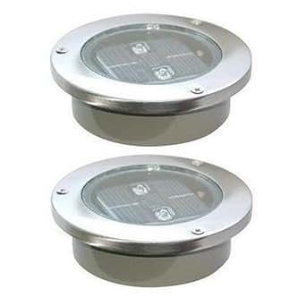 2 lampes solaire spots rechargeable sans fil planter for Luminaire exterieur rechargeable