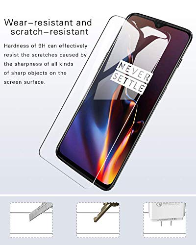 Market Affairs Anti-Scratch High Definition Bubble Free Anti-Fingerprint Tempered Glass Screen Protector for One Plus 6T - Transparent (Pack of 1)