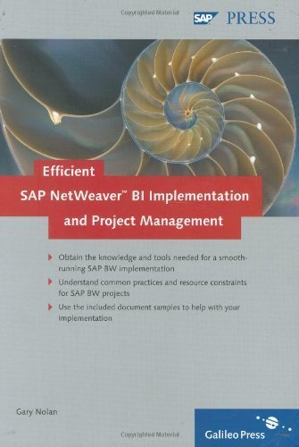 Efficient SAP NetWeaver BI Implementation and Project Management: Safely weather the challenges of your SAP BW project by Gary Nolan (2007-05-31) par Gary Nolan