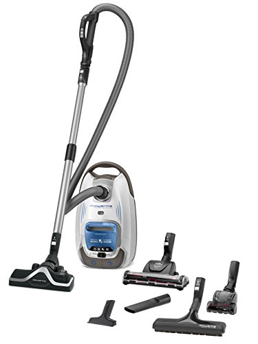 Rowenta Silence Force 4A+ Animal Care Pro RO6497EA Bodenstaubsauger mit Beutel, sehr leise, (550 Watt, 4,5 Liter) silber