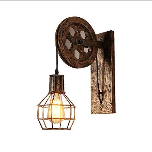 Preisvergleich Produktbild WXCCK Retro Industrial Wind LED Wandlampe,  Schlafzimmer Schlafzimmer Lampe Restaurant Hotel Zimmer Wrought Iron Lift Wandlampe