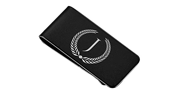 Visol Holmes Black Plated Money Clip with Free Engraving