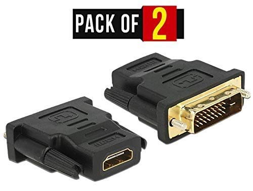 TB® Gold Plated Male DVI-I to Female HDMI Cable Adapter - DVI-I (24+1) to HDMI Converter Hdmi Gold Plated