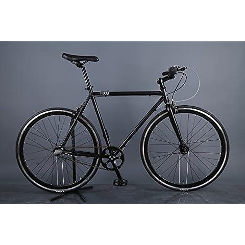 Martello fixi33-Speed fixie-style Bicicletta (Nero, 56cm)