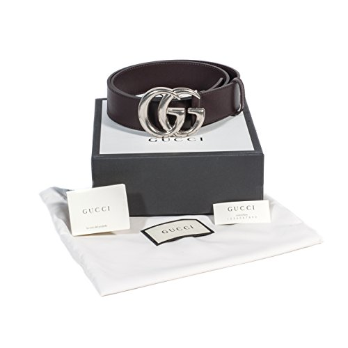 Gucci Brown Leather Belt with Silver GG