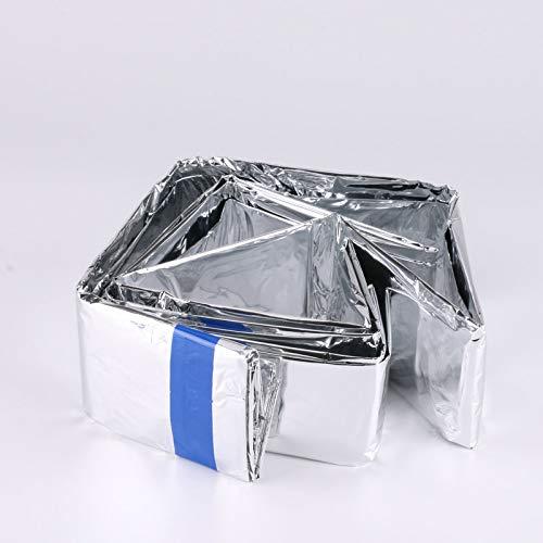 RTGFS Schlafsack Outdoor Camping Aluminiumfolie Regenmantel Aluminiumfolie Einfacher Schlafsack Notisolationsschlafsack - Coleman Damen Schlafsack