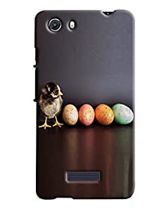 Blue Throat Bird With Colored Eggs Hard Plastic Printed Back Cover/Case For Micromax Unite 3