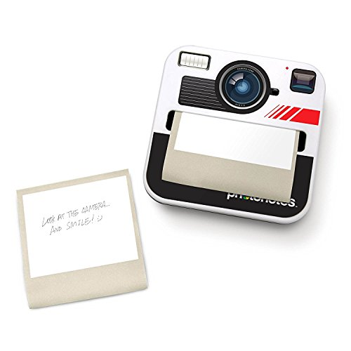 Retro Polaroid camera sticky notes dispenser. A fun gift for the office.