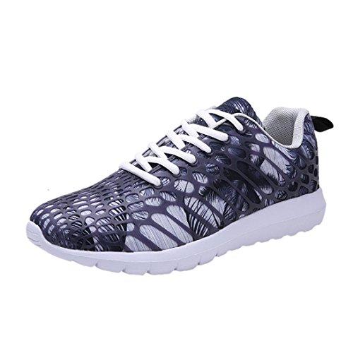 FNKDOR Unisex Sneaker Bunt Laufschuhe Sportschuhe Fitness Turnschuhe(EU:39 (CN:40),Grau)