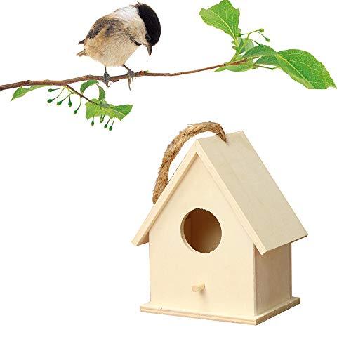 MxjeeioCasa De Pájaros De Madera, Artesanía Artes Y Artesanía Retro Casas Rurales Casas De Pájaros...