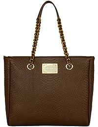 fe1919e64ea9 SILVIO TOSSI Damen Leder Handtasche Schultertasche Braun Modell 11055-32