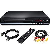 Multiregion 1080p Upscaler DVD/CD Player with HDMI | Mini Disc Player Hi-Fi CD Player | Playback of CD, CD-R/CD-RW, Video CD/SVCD, DVD,DivX,DVD,mp3