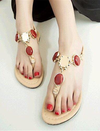 UWSZZ IL Sandali eleganti comfort Scarpe Donna-Sandali-Casual-Comoda-Piatto-Finta pelle-Blu / Viola / Rosso Purple