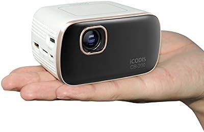 iCODIS CB-200 Mini Proyectores, duración de la lámpara 30.000 horas, 1000 lúmenes, Android, Octacore de Cortex A7.