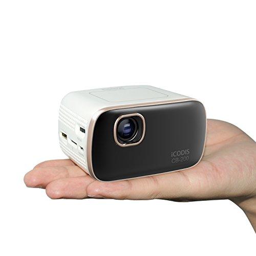 iCODIS CB-200 Mobil Beamer, 30,000 stunden lebensdauer der lampe, 1000Lumen, Android Projektor, Octacore Cortex A7