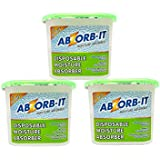 Abzorb-It Moisture Absorber, Green, 300g - Pack of 3