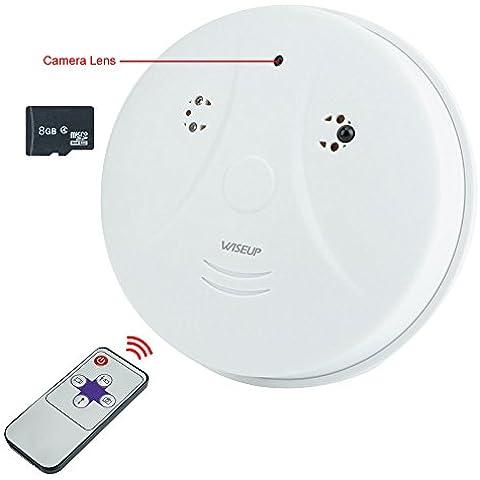 WISEUP 8GB 1280x720 HD Microcamere Spia Del Rivelatore Di Fumo