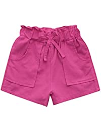 8ca79f3f9ea Amazon.co.uk  Pink - Shorts   Girls  Clothing