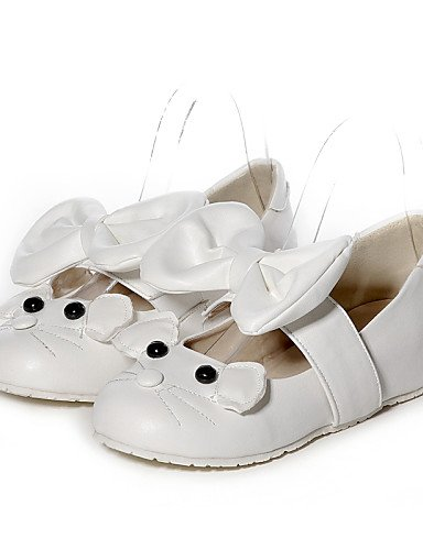 ShangYiDamenschuhe - Ballerinas - Büro / Kleid / Lässig - Kunstleder - Niedriger Absatz - Rundeschuh / Geschlossene Zehe - Rosa / Weiß White