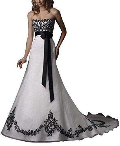 60a00813ffd7 Hochzeitskleid farbig: Farbige Hochzeitskleider Rosa, Rot, Schwarz-Weiss