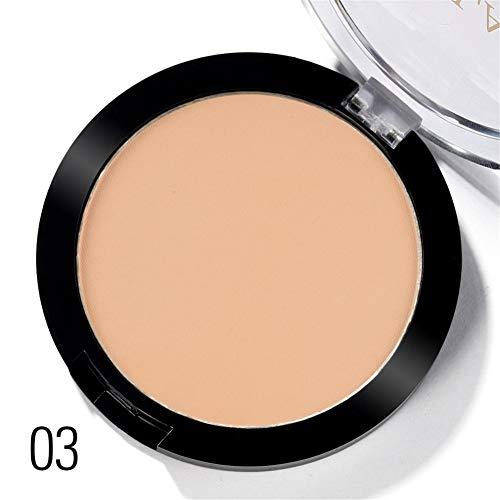 Allbestaye Oil-control Mineral Puder Wasserfest Natural Make-Up Cover Concealer Anti-UV Pressed Powder -