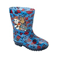 Boys Official PAW Patrol Wellies Blue Wellys RAIN Wellington Boots UK Size 5-10