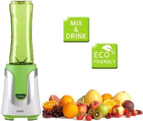 SMOOTHIE-Mixer + 2 Trinkflaschen , Obstsäfte oder Joghurt-Mix in Sekunden zubereiten + in der Mixerflasche direkt mitnehmen , ALL IN ONE Mixer mit 2Flaschen + Deckel (grün)