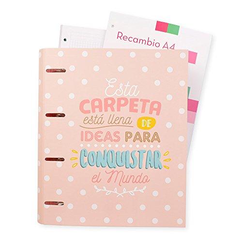 Grupo Erik Editores Carouge - Carpeblock con 4 anillas, 32 x 27.5 cm