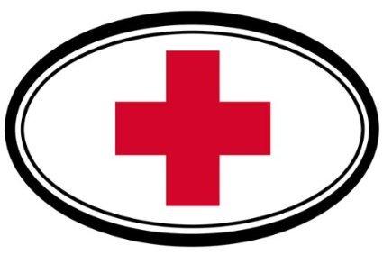 sticker-decal-medic-cross-oval-bumper-sticker-red-cross-152mmx101mm