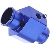 KKmoon Joint Pipe Adaptador de Sensor de Temperatura de Agua Medidor de Temperatura de Manguera Radiador 36mm Azul