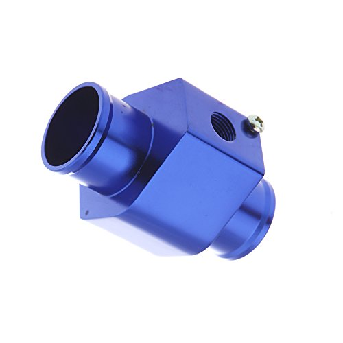 kkmoon Temperatur Wasser Temperatursensor Dichtung Schlauch Gauge Heizkörper Hose Adapter 40mm blau