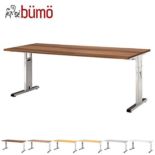 BÜMÖ® Schreibtisch für das Büro | Bürotisch in 6 Dekoren & 7 Größen verfügbar | Büroschreibtisch (Zwetschge, 80_x_180_cm)