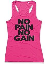 NO PAIN NO GAIN Ladies Sports Vest