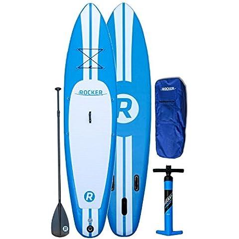 Pacchetto SUP tavola da paddle gonfiabile iRocker di 304 cm (15.2 cm di spessore) (Blu)
