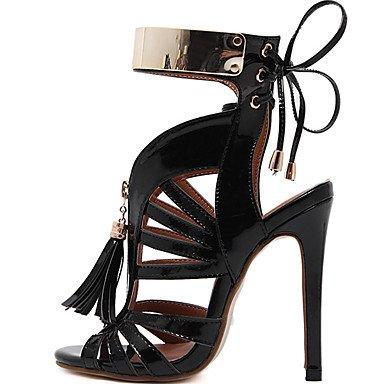 LvYuan Da donna-Sandali-Formale-Altro-A stiletto-PU (Poliuretano)-Nero Argento Silver